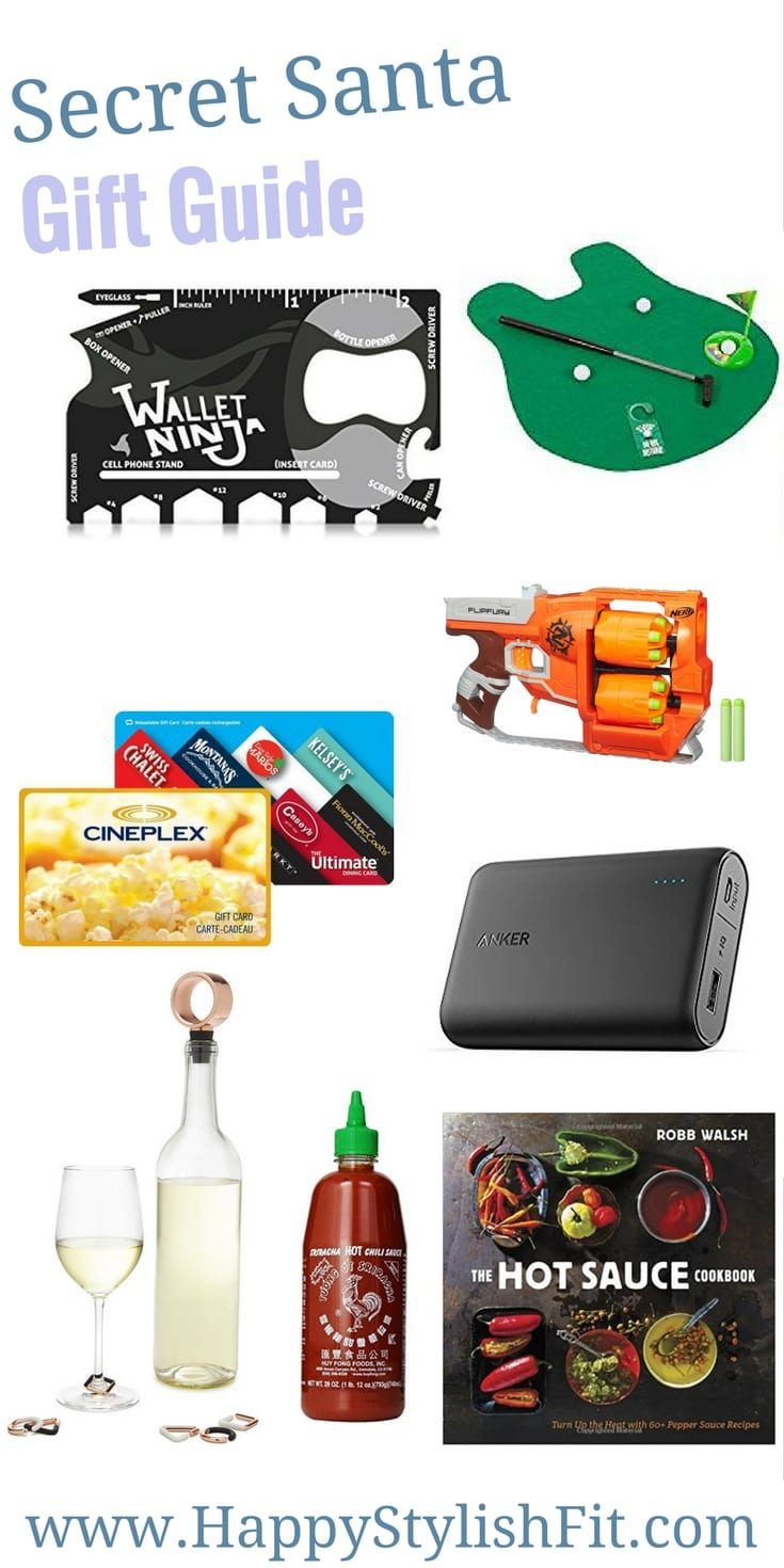 Your gift guide for secret santa gifts.