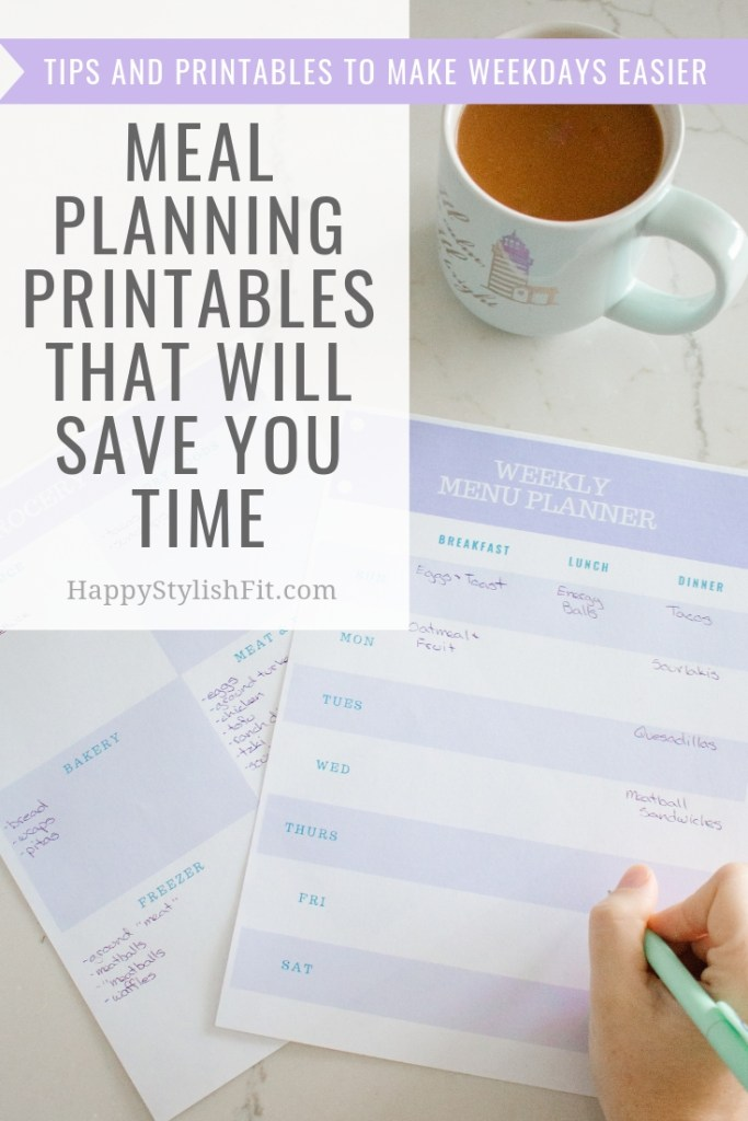 Free meal planning printables to help you save time with tips for family meal planning and food prep to make weekday meals easier.
