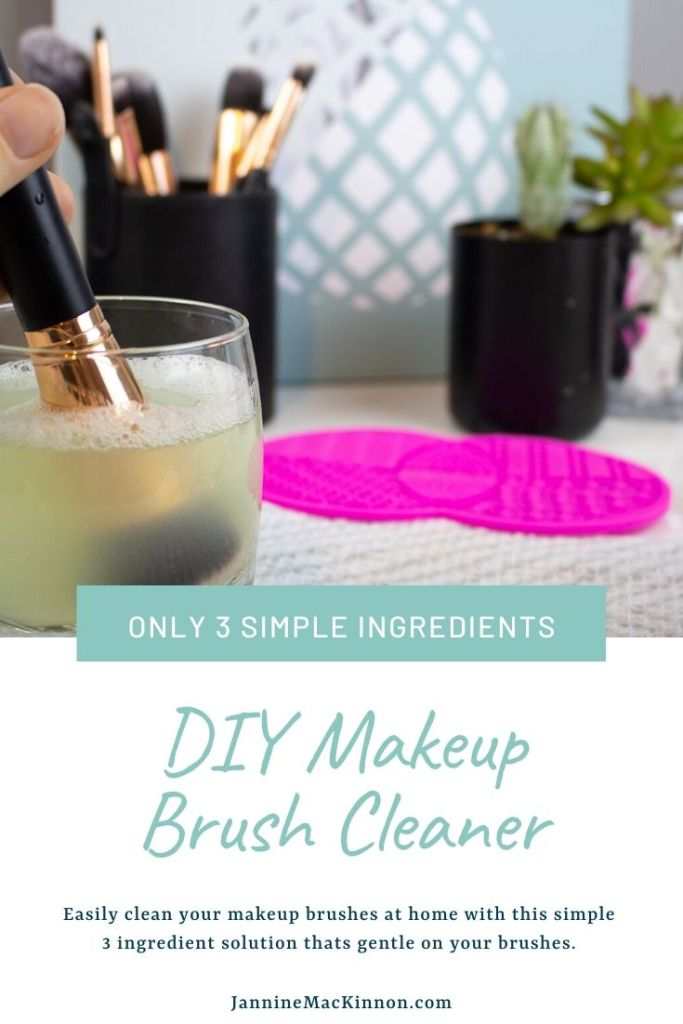 How to clean your makeup brushes at home using this simple 3 ingredient DIY makeup brush cleaner.