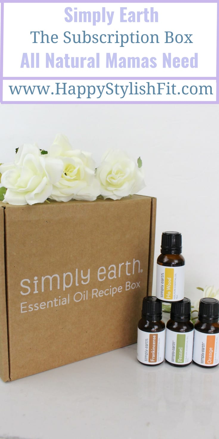 Simply Earth, the essential oil subscription box all natural loving mamas need.