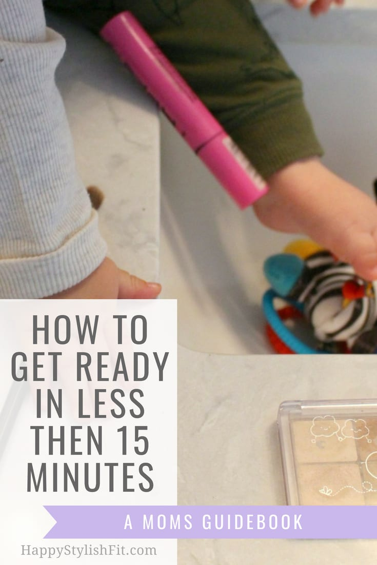 A quick morning routine for moms to get ready in less then 15 minutes. Do this mom self care to feel a bit better during the day. You deserve it mama! #MorningRoutine #QuickMakeupRoutine #Mom #Motherhood