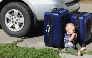 Tips and tricks for travelling with a baby whether its on an airplane or on a roadtrip.