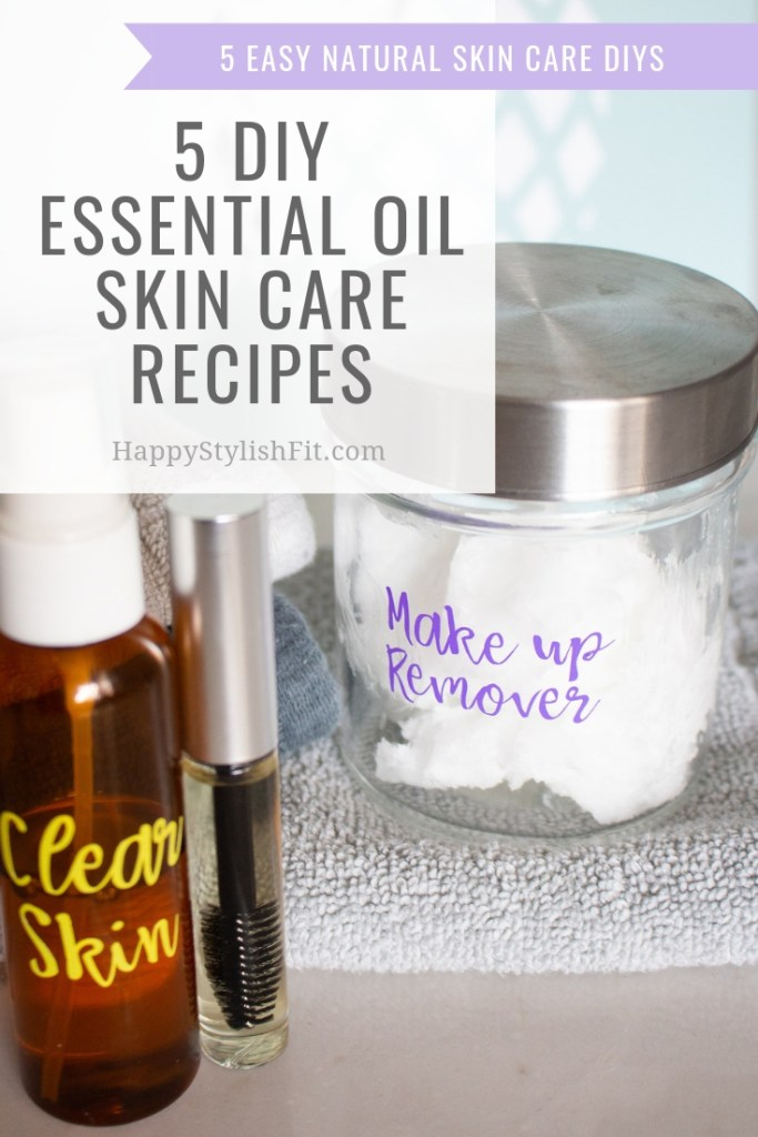 5 essential oil skin care recipes that help grow lashes, reduce acne, minimize pores, diminish scars, and more.
