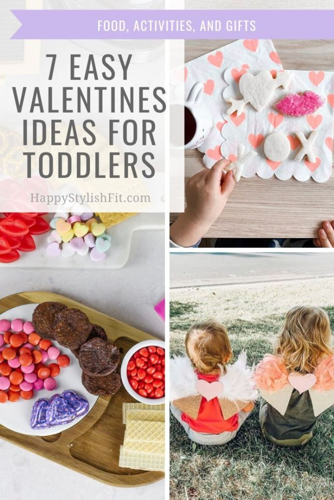 7 easy valentines ideas for toddlers including toddler activities, toddler crafts, and treats for the family.
