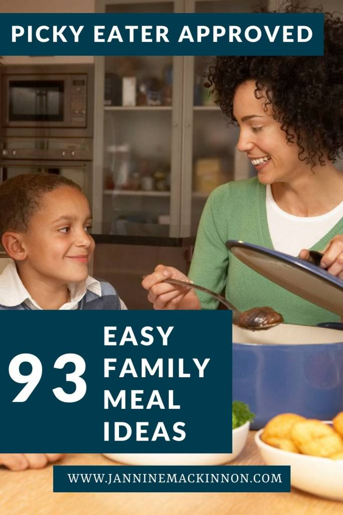 93 Easy family meal planning ideas to make weeknight dinners and all of your other quick family meals made easy while accomodating picky eaters