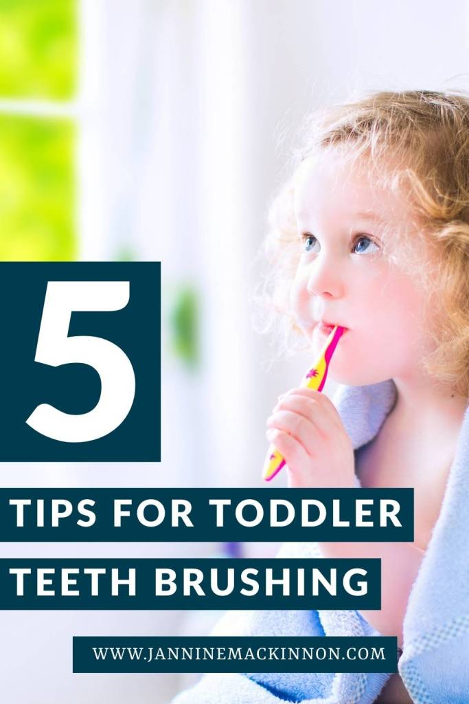 5 Tips for a more successful toddler teeth brushing experience.