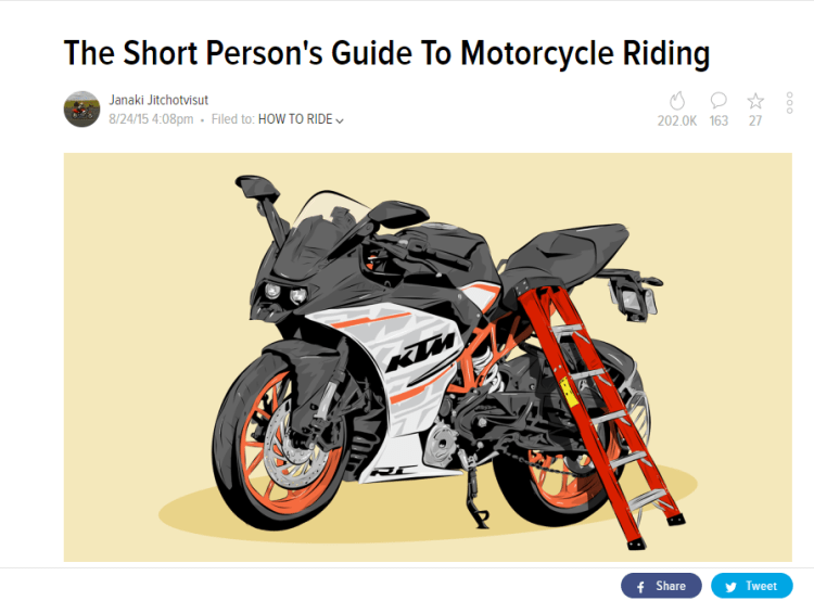 The Short Person's Guide to Motorcycle Riding