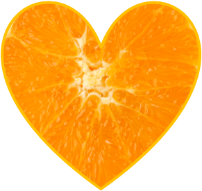 orange heart I made