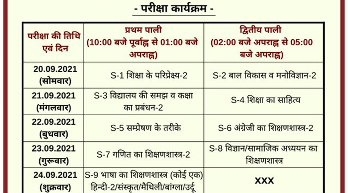 Bihar D.El.Ed Exam 2020: Schedule released for Special Exam.  Check here for complete details