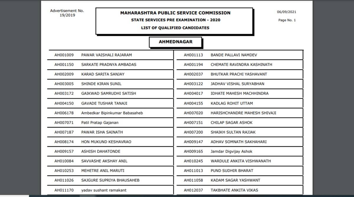 MPSC Result 2020: MPSC has released the result, These candidates have passed the exam, here is the direct link to check