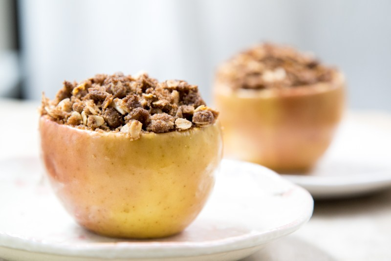 Apple Crumble Baked in Apple Cups Recipe