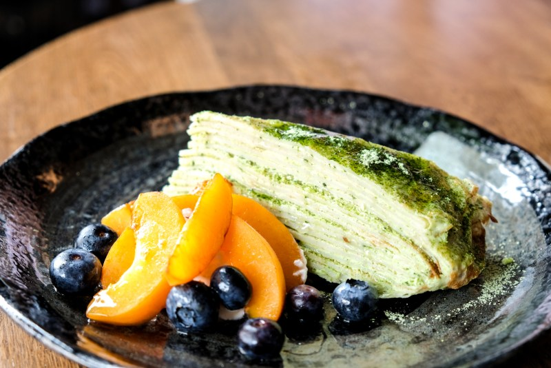 Matcha Milcrepe from Dosanko Restaurant Vancouver
