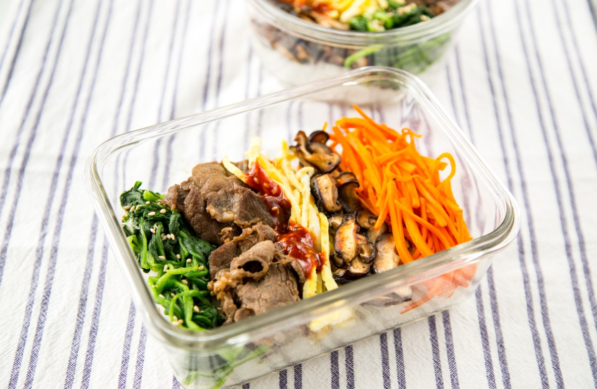Korean bibimbap bento lunch box recipe