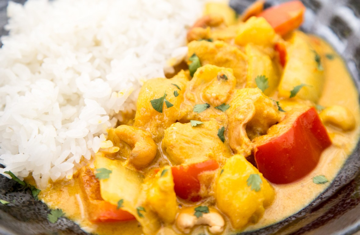 chicken & mango yellow curry recipe