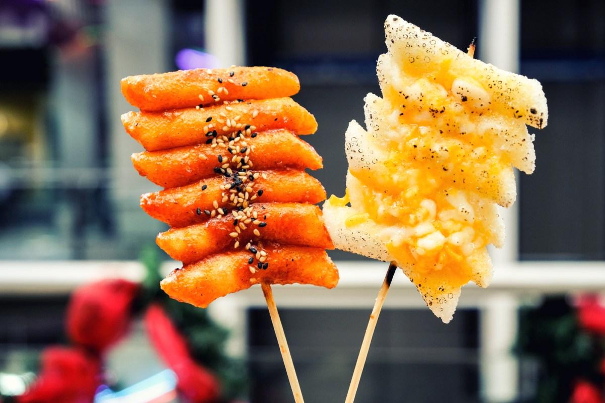 Deep Fried Rice Cakes at Seoul Truck Korean Street Food - Coquitlam BC