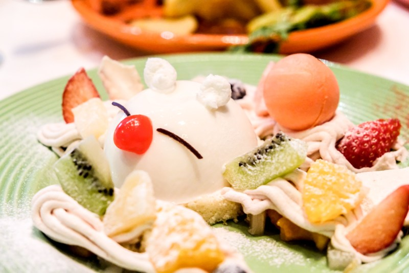 Final Fantasy 30th Anniversary Food - Sun Cafe - Moogle Chestnut Mont Blanc