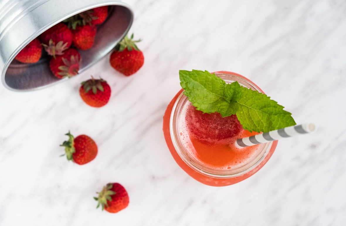 strawberry sorbet float recipe