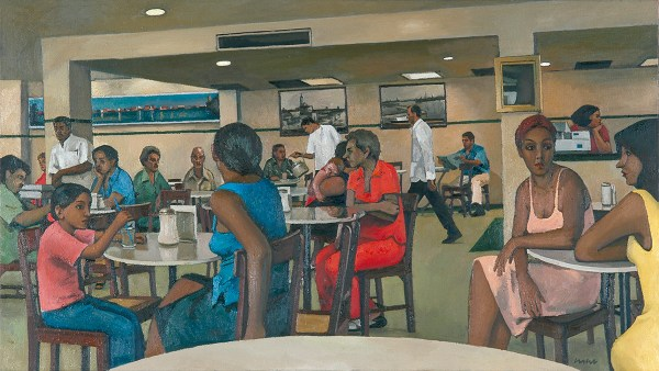 Gran Cafe de la Parroquia, 2003, 140 x 80 cm, oil on canvas