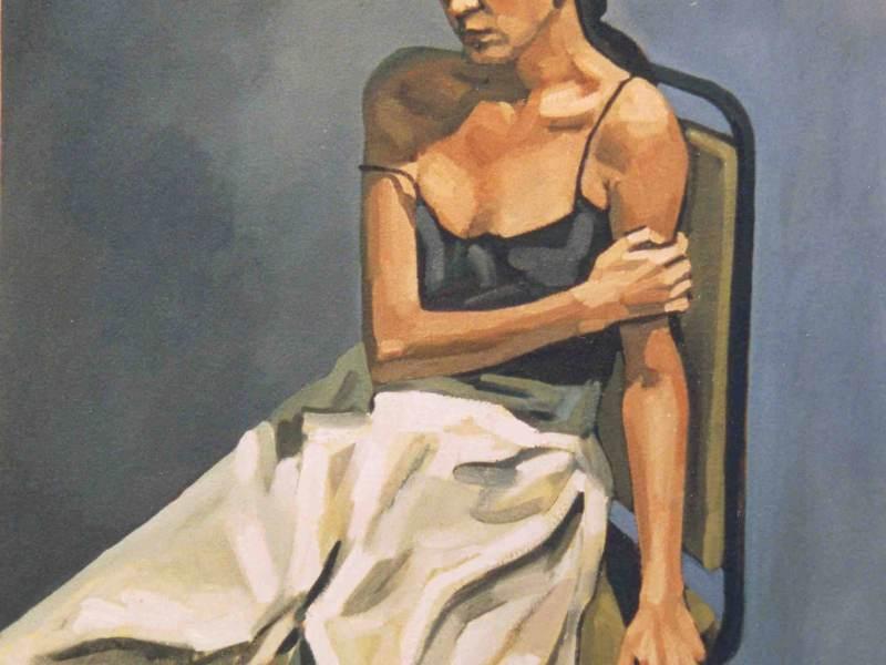 """1 - """"En Tensión"""" 70x90 cm, 1997"""