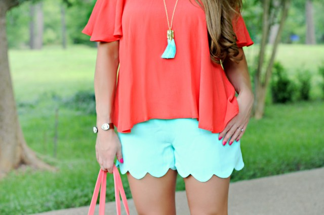 mint scallop shorts 2