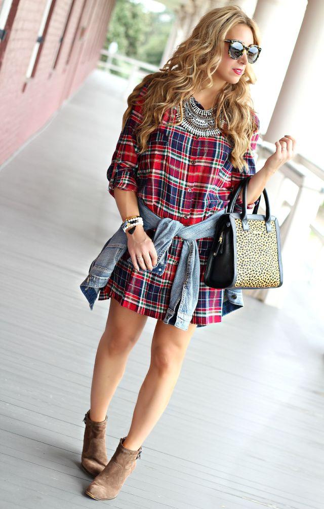 red plaid dress 3