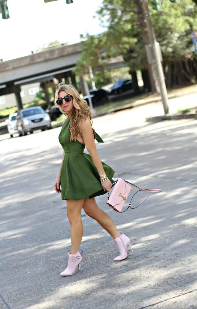 olive halter dress 10