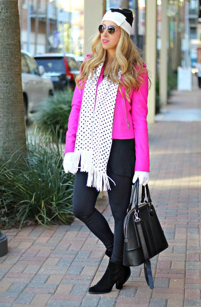 polka dot scarf 1