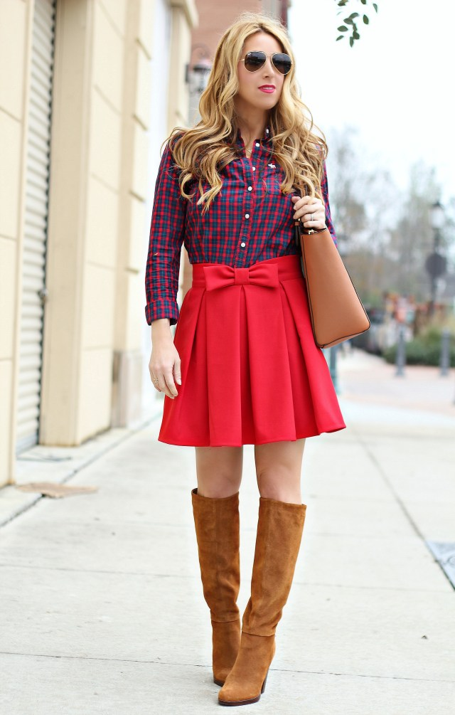 red bow skirt 1