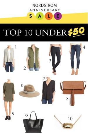 Top 10 under $50 Nordstrom Sale
