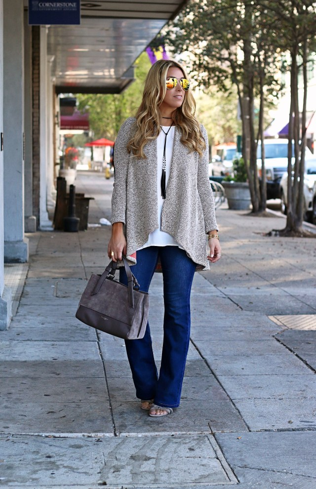 neutral fall cardigan