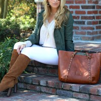 White Denim for Fall + A Patricia Nash Giveaway Opportunity
