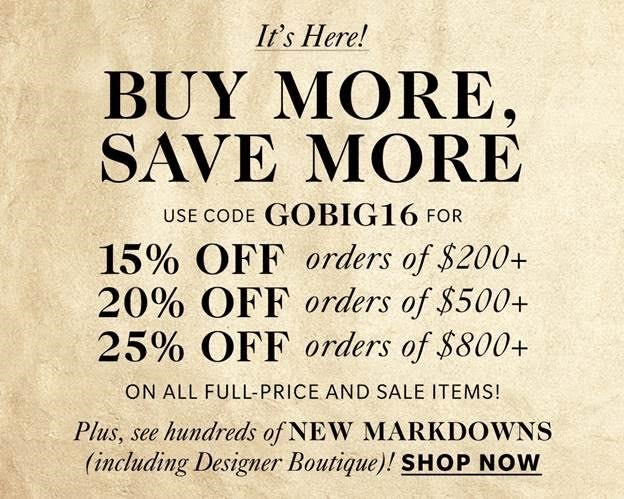Shopbop Black Friday Sales Event