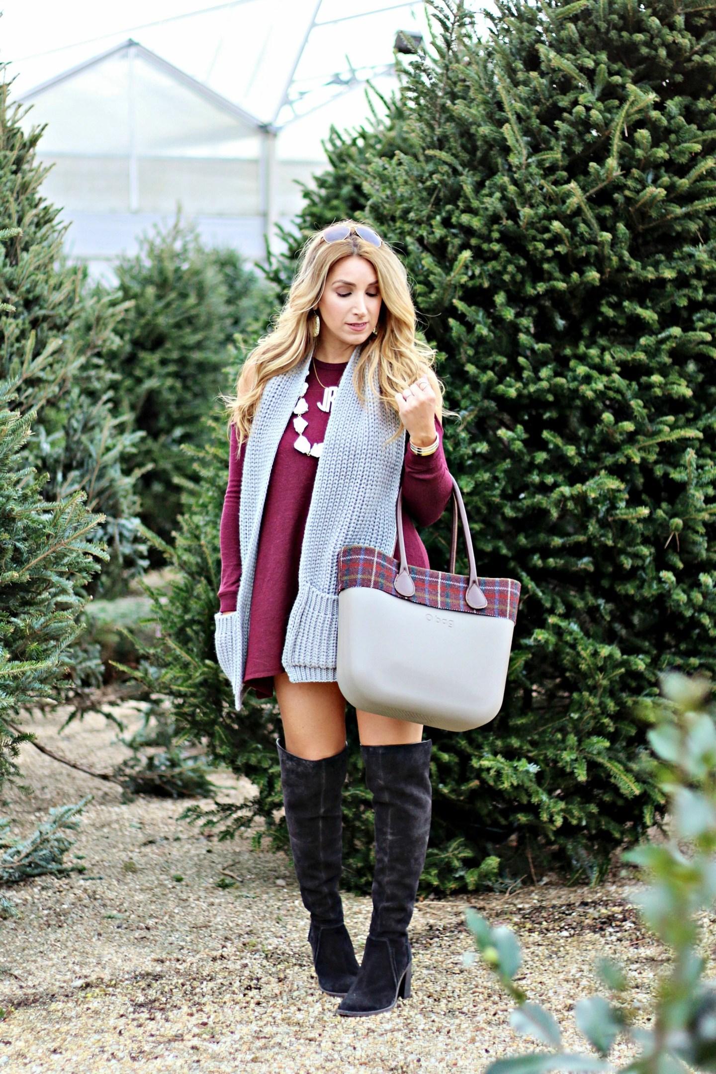 Cold Shoulder Dress + O Bag