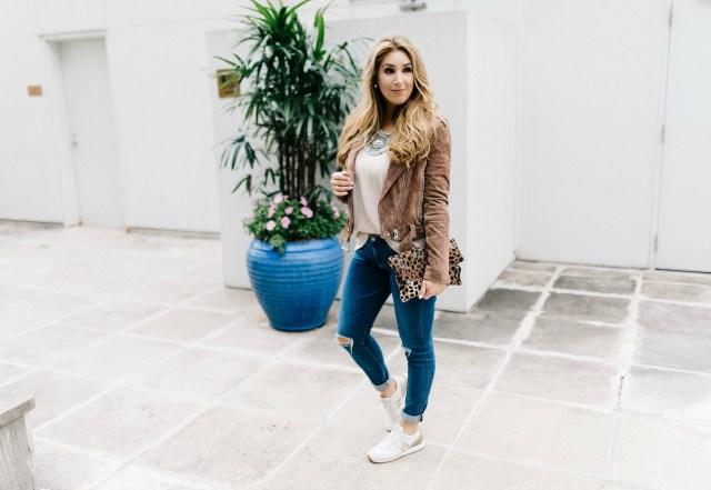 How to wear Suede Jacket | January Hart