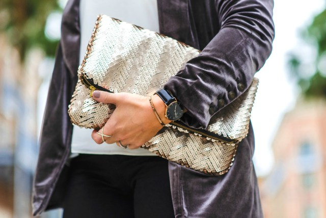 Sequin Clutch | January Hart Blog