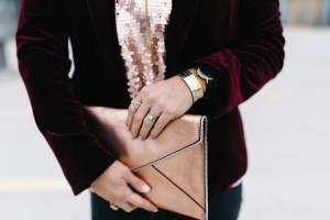 rose gold clutch