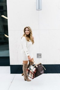lace up sweater dress | January Hart Blog