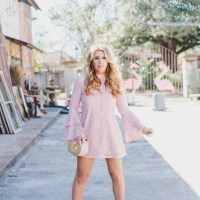Spring Preview: Blush Bell Sleeved Lace Dress