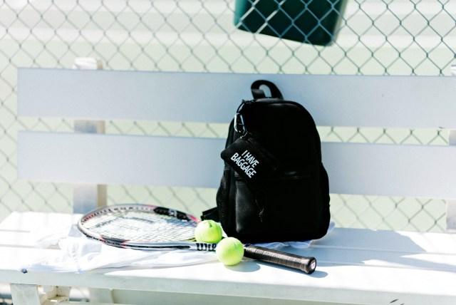 Workout backpack black