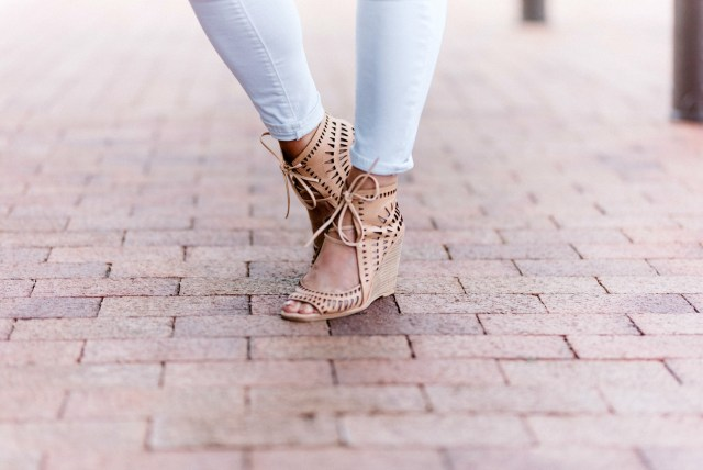 Jeffrey Campbell nude wedges