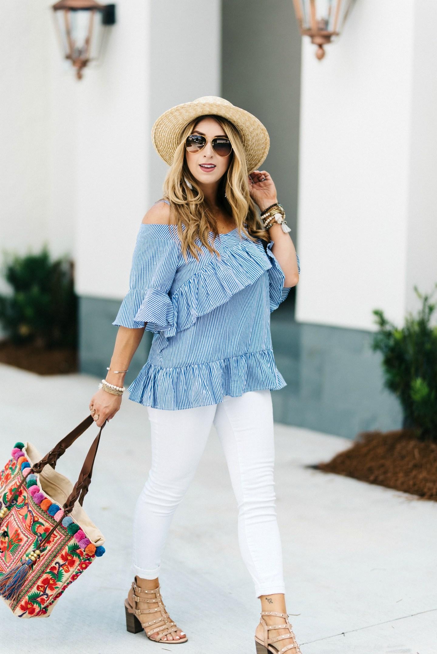 Blue Striped Shirt Womens