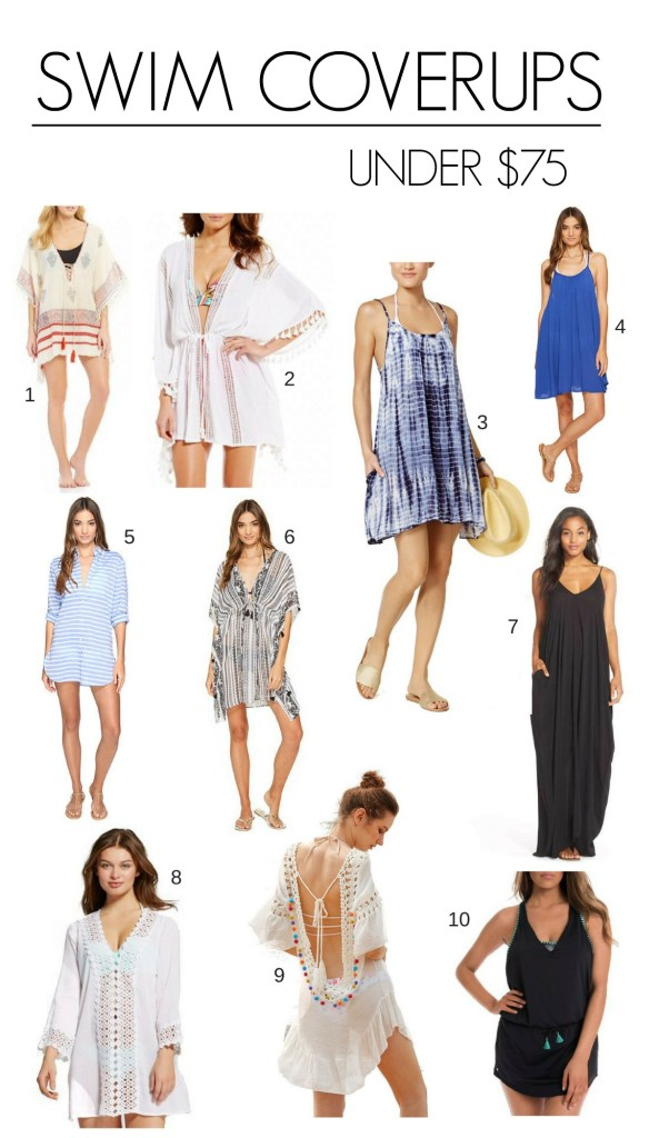swimsuit coverups under $75