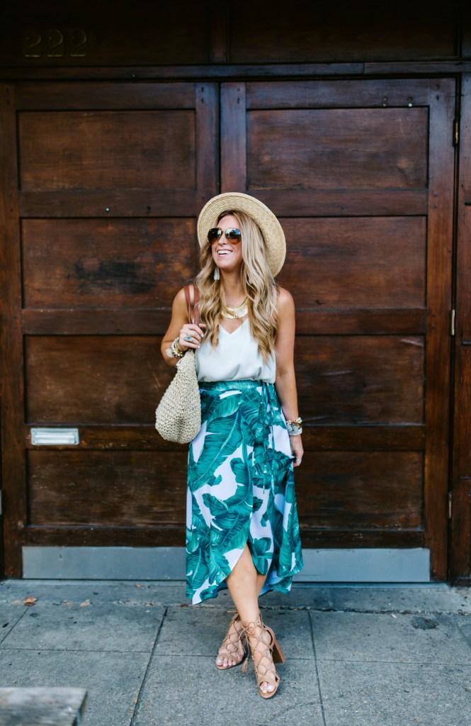 shein palm print skirt 4