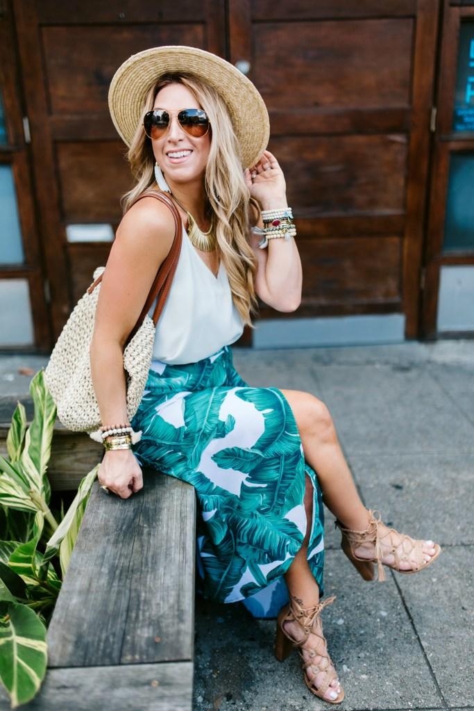 shein palm print skirt 8