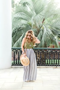 Boho maxi skirt outfit