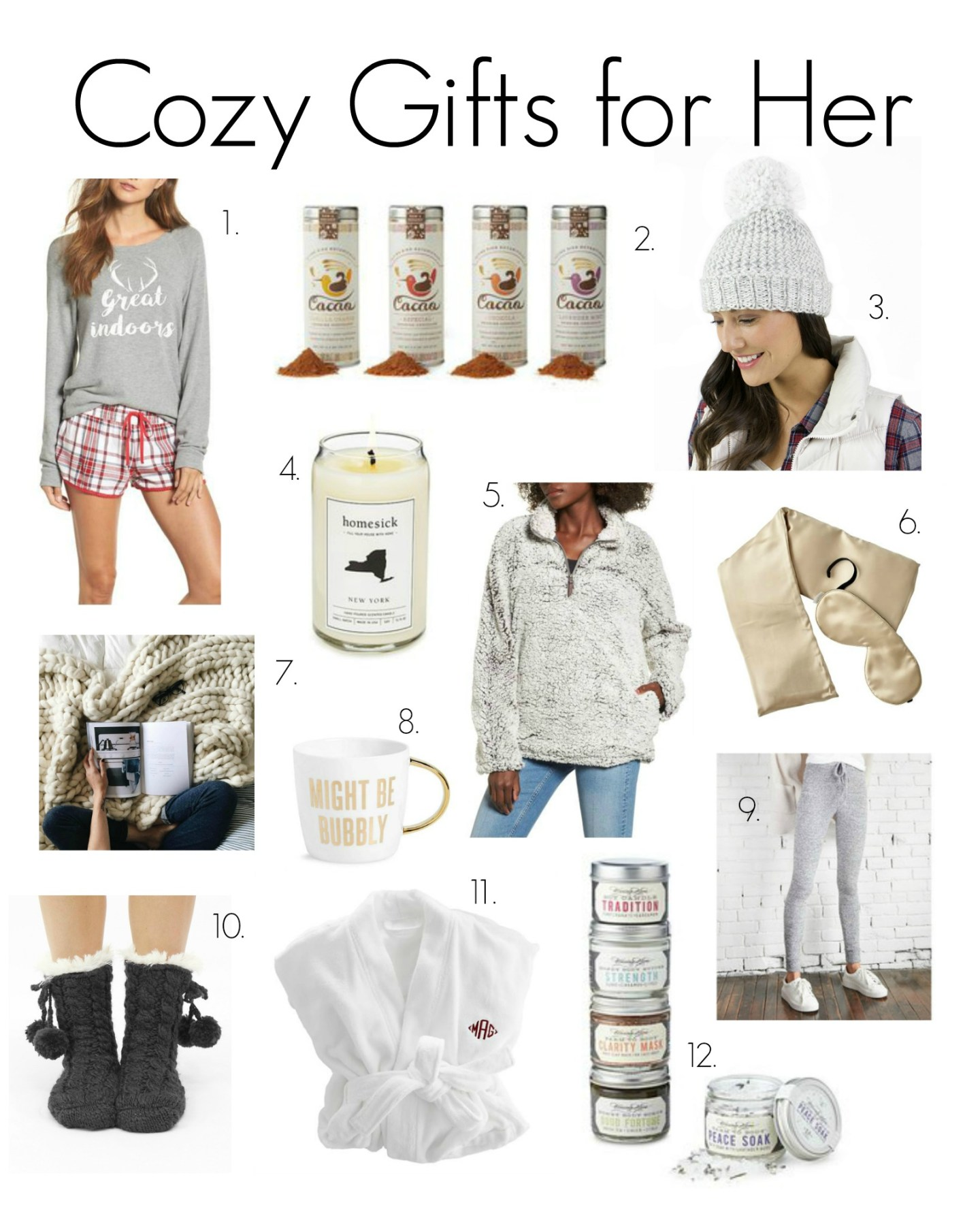 Gift Guide No. 2: Cozy Gifts for Her