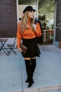 Burnt orange sweater womens