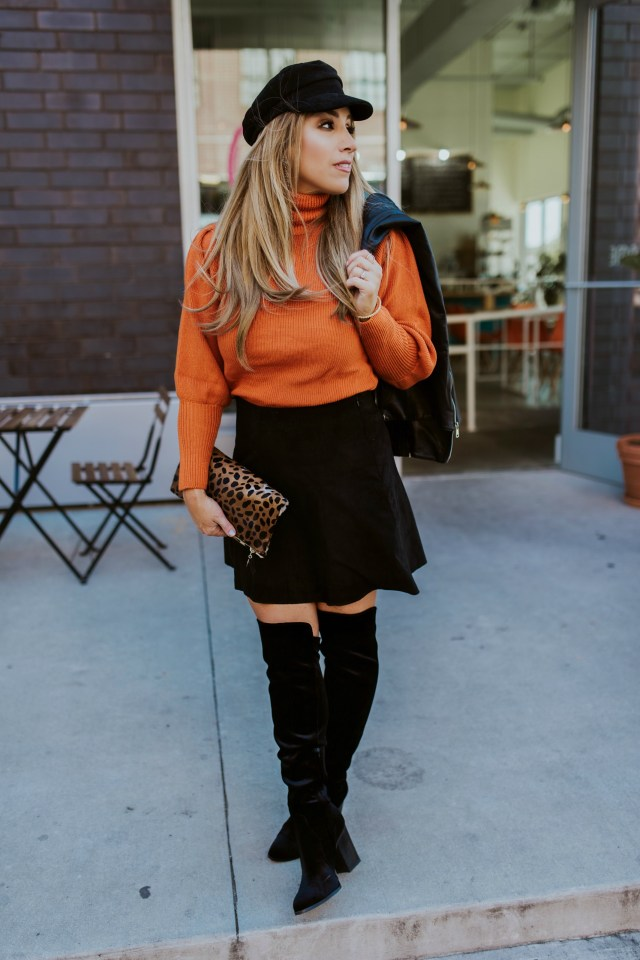 Burnt orange sweater womens