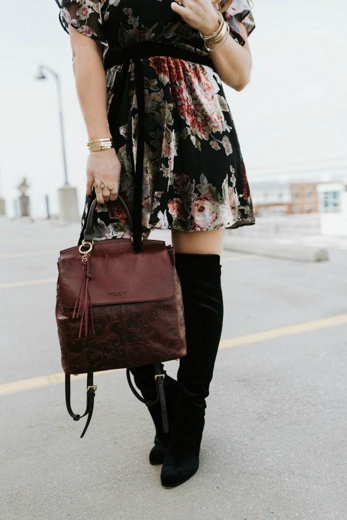 velvet floral dress 4