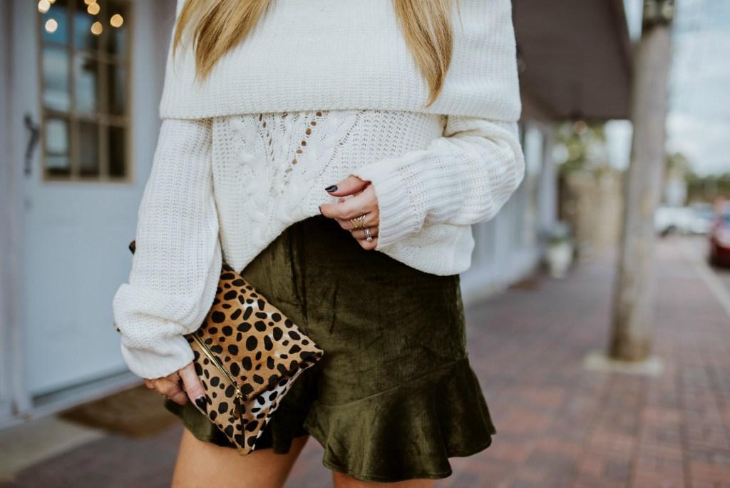 velvet ruffle shorts 1